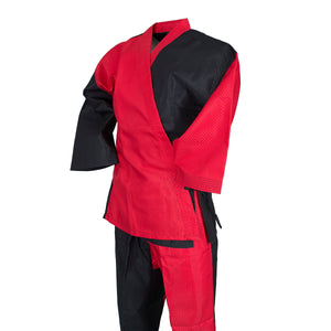 BMA Dri-Fit Fabric Black/Red Open Uniform