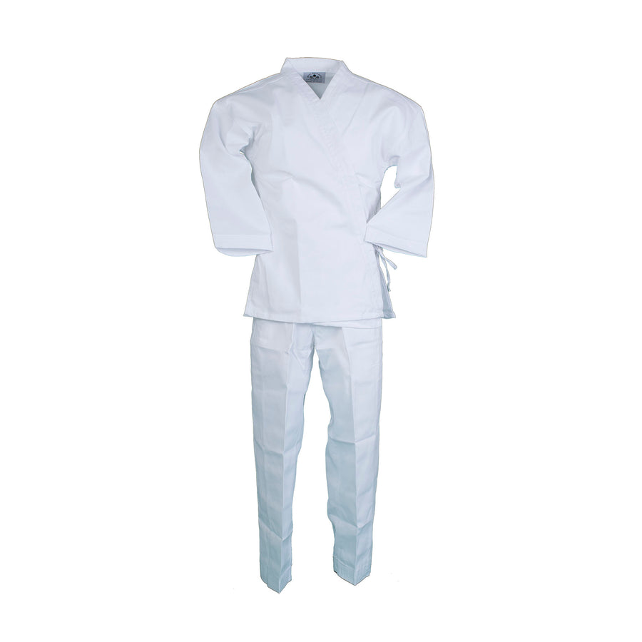 BMA Ribbed Fabric White Open Uniform