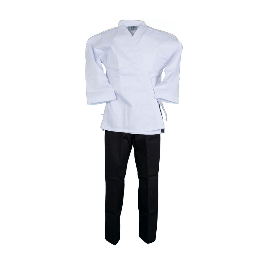 BMA Twill Fabric Open Uniform With White Top Black Pants