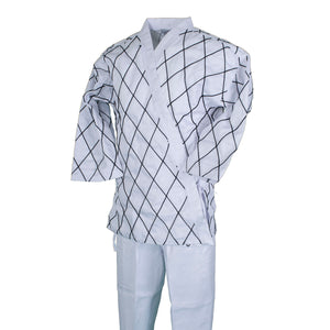 BMA White Hapkido Uniform With Diamond Stitching