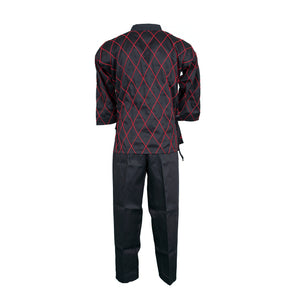 BMA Black Hapkido Uniform With Diamond Stitching