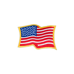 Wavy USA Flag Patch