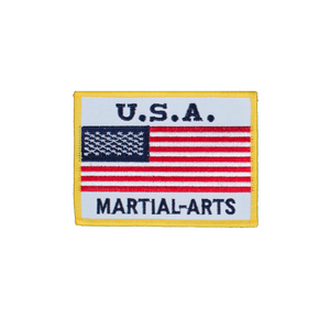 USA Flag Patch With White Background