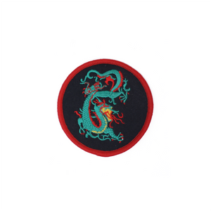Green & Red Dragon Round Patch