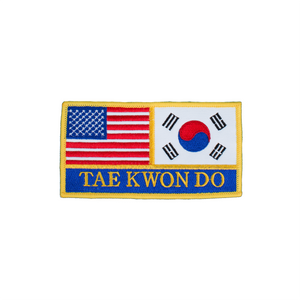 USA & Korea Flag Taekwondo Patch