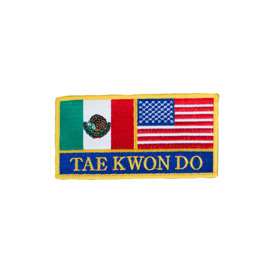 Mexico & USA Flag Taekwondo Patch