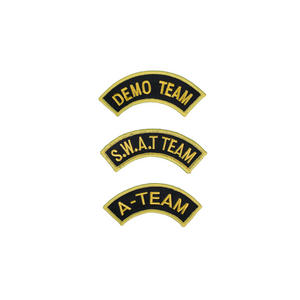 Half Moon Shape Team Patch