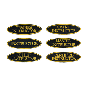 Oval Shape Instructor Patch