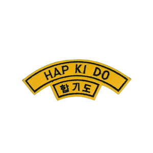 Half Moon Shape Hapkido Patch