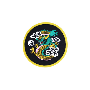 Green & Gold Dragon Round Patch