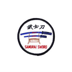 Samurai Sword Round Patch