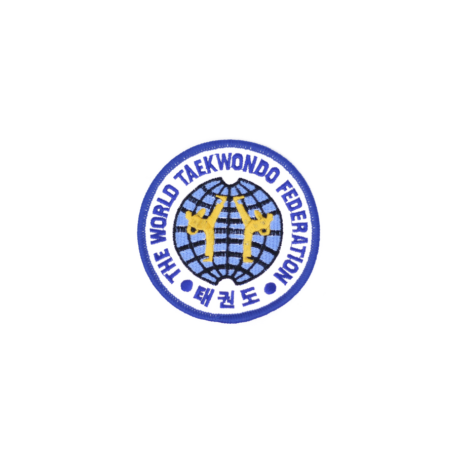 Old World Taekwondo Federation Logo Round Patch Blue (WTF)