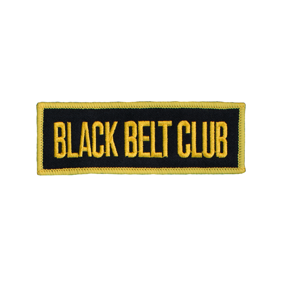 Black Belt Club Patch (Square)