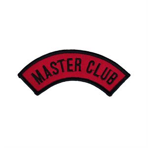 Half Moon Shape Master Club Red Patch