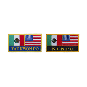 USA & Mexico Flag Patch