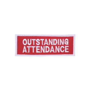 Outstanding Attendance Patch Red