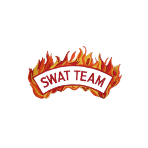 Swat Team Patch With Flames