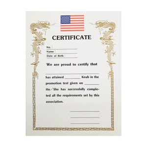 "Certificate ""Keub"" With USA Flag Logo"