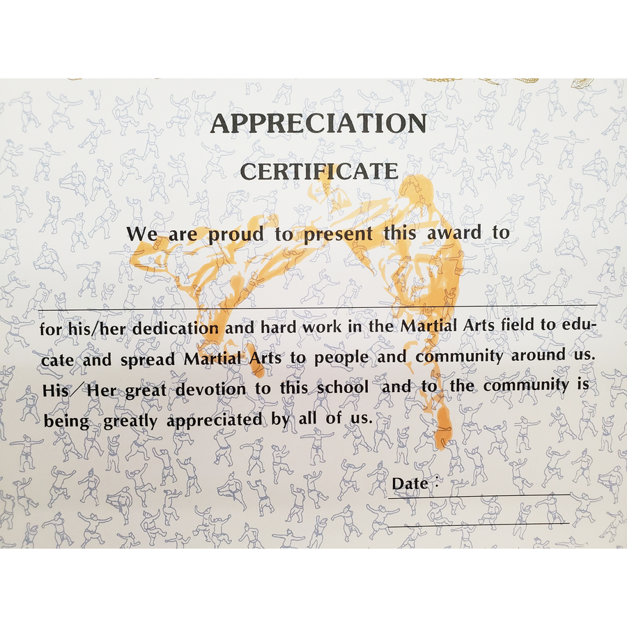 "Certificate ""Appreciation"" With Flag Logo"