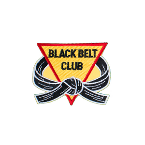 Black Belt Club With Triangle Patch