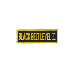 Black Belt Level Patch (Black)
