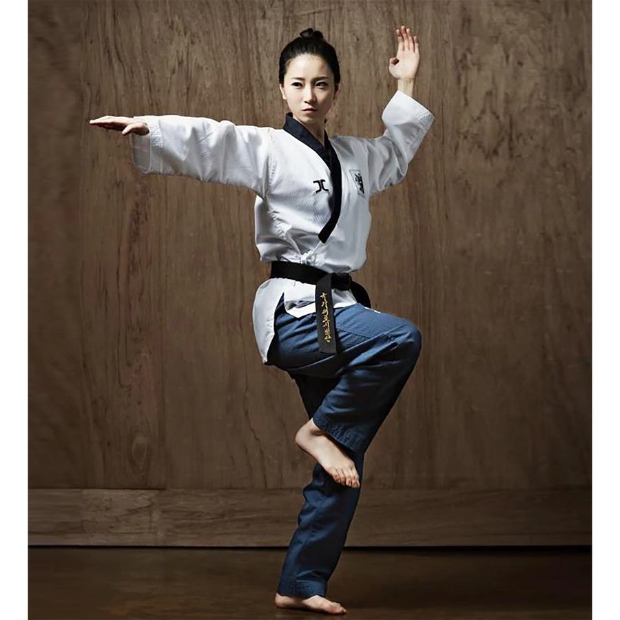 JCalicu Dan Female Poomsae Uniform (Ribbed Fabric)