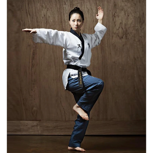 JCalicu Dan Female Poomsae Uniform (Diamond Fabric)