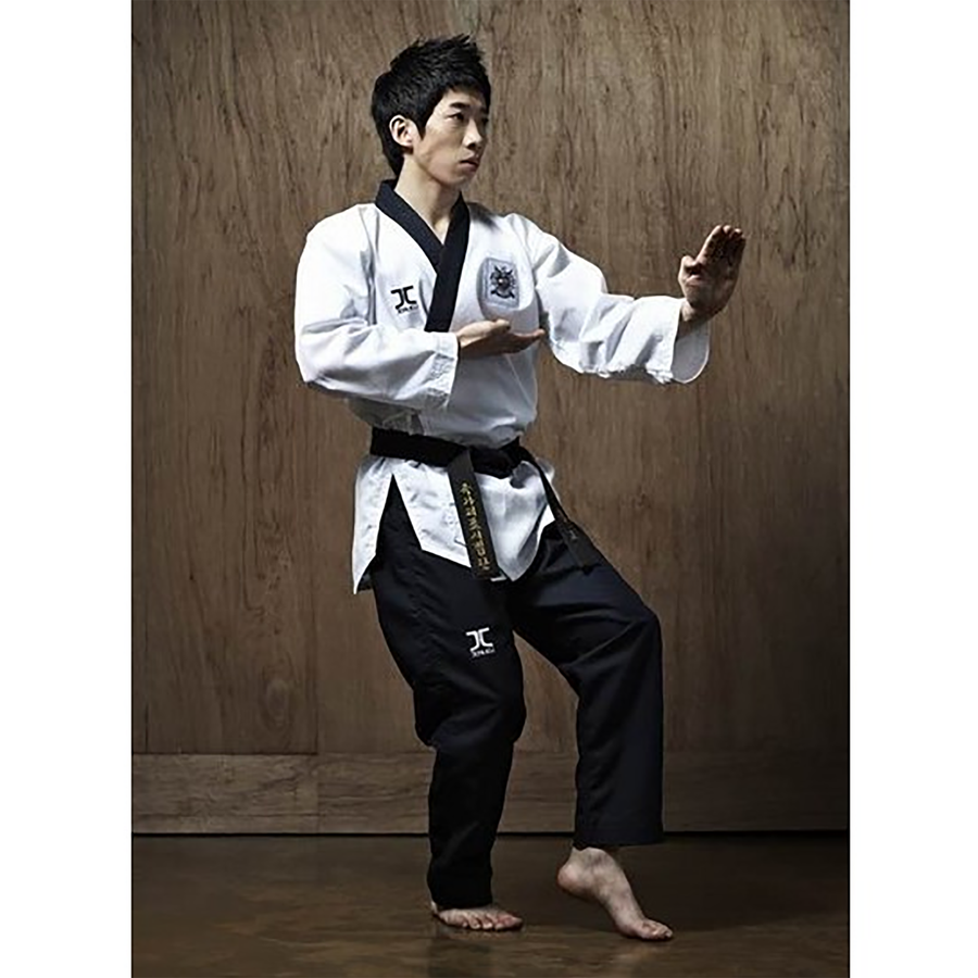 JCalicu Dan Male Poomsae Uniform (Ribbed Fabric)