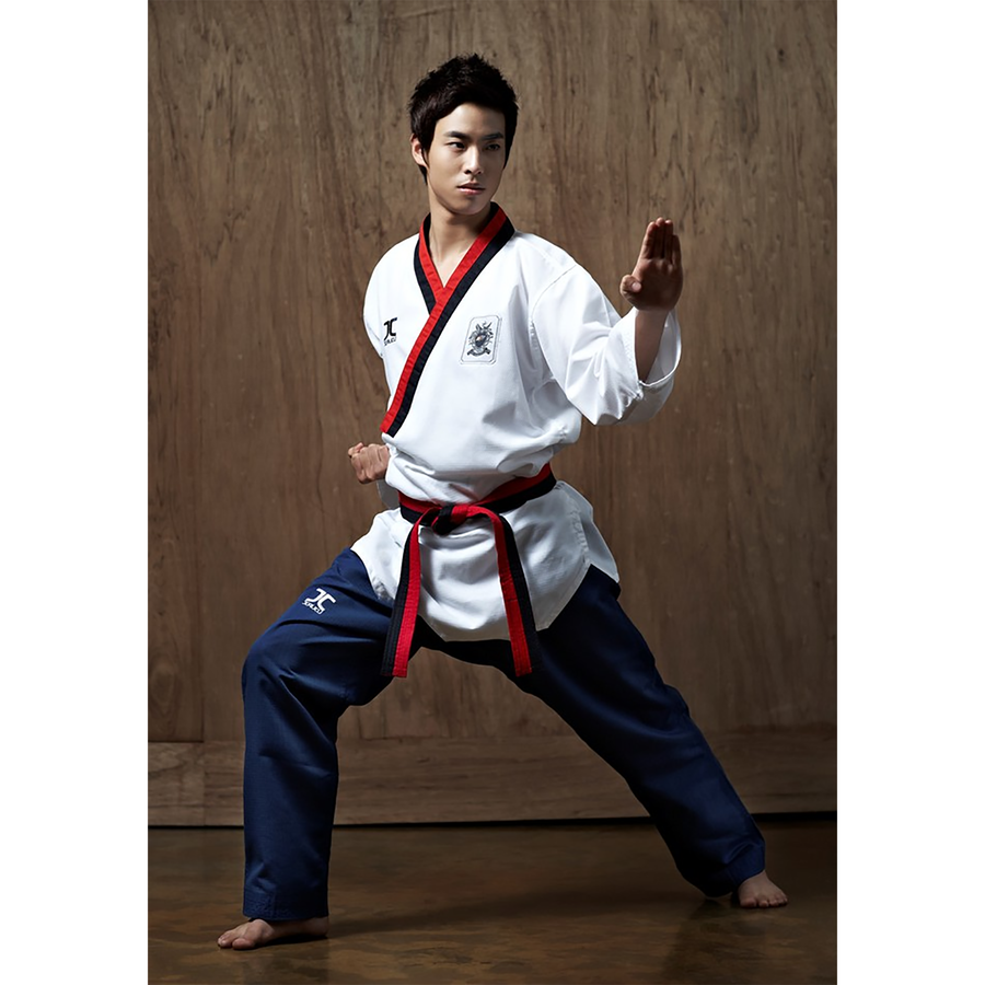 JCalicu Poom Male Poomsae Uniform (Ribbed Fabric)