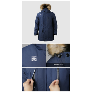 MOOTO Europa Winter Puffer Jacket (White, Navy)