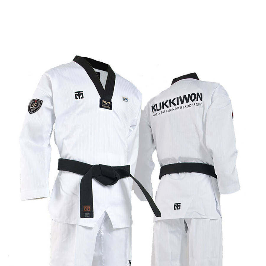 MOOTO Kukkiwon Uniform Black V-Neck (With Kukkiwon Logo Printed)