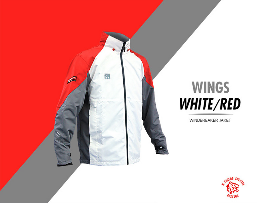 MOOTO Wing Jacket 3 Tone (White/Red)