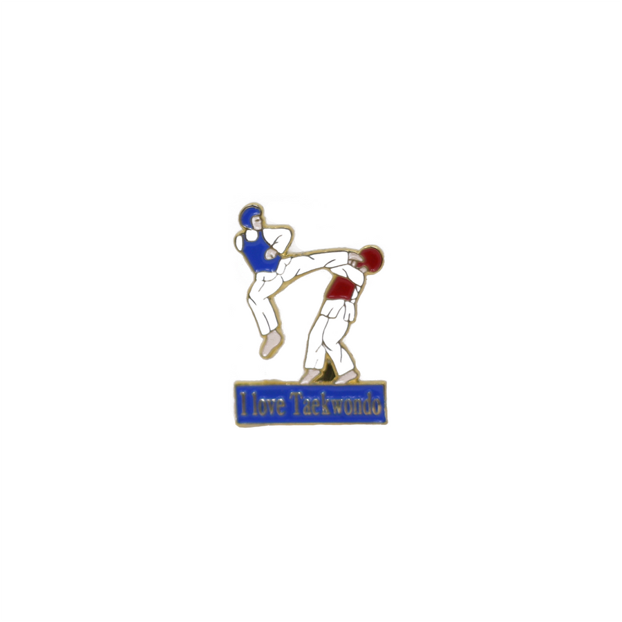 I Love Taekwondo Sparring Pin