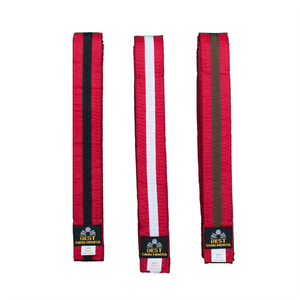 BMA Red Belt With Stripe