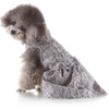 Elegant Pet Costume Fine Print Dress Pet Clothes