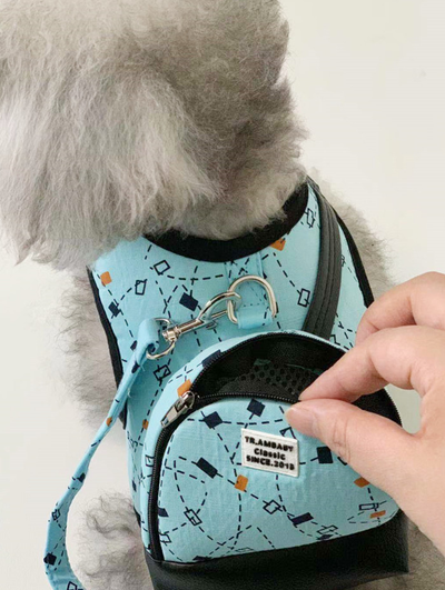 Lovely Backpack Vest Collar With Leash Set For Pet