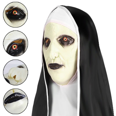 Mask Nun Ghost Halloween Costume