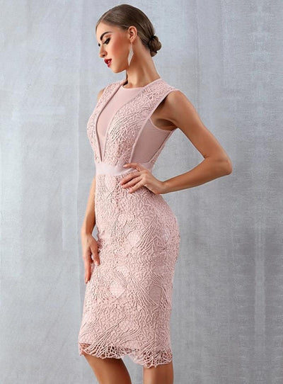 Sexy Lace Sleeveless Women Dress