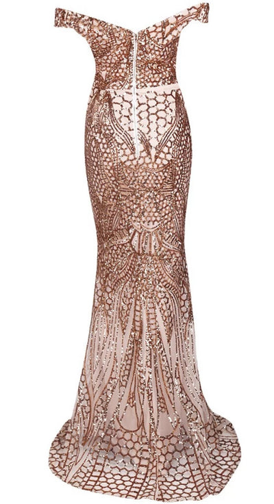 Sexy Sequin Maxi Party Dress
