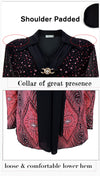 Blouses With Diamonds Brooch Women Plus Size