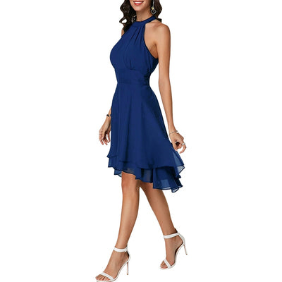 Sexy Chiffon Sleeveless Women Dress