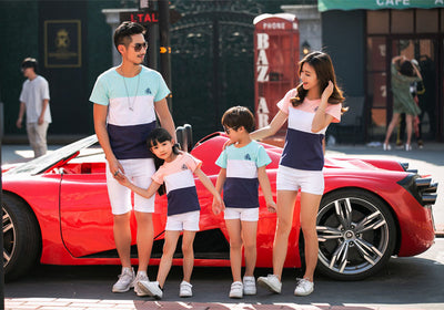 Outfits Striped T-shirt Family Clothing Set