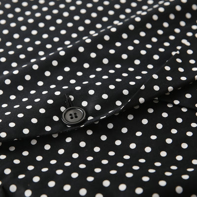 Retro Polka Dot Casual Blazer Woman Plus Size