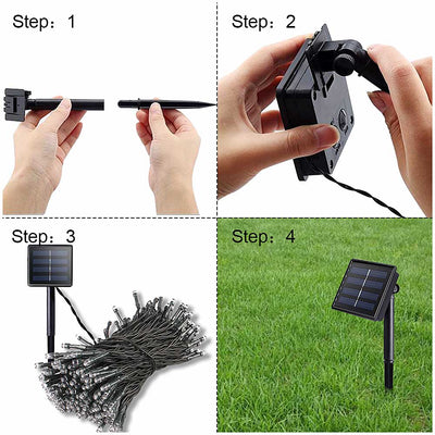 Waterproof LED Fairy String Light Solar Powered For Decoration