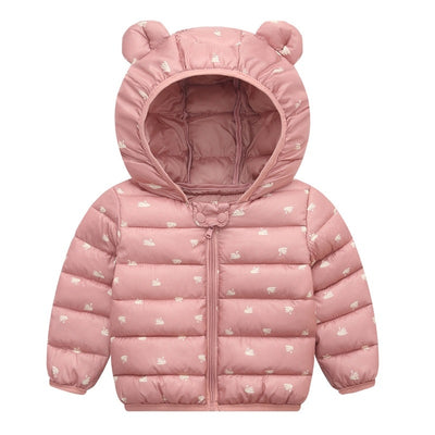 Waterproof Hooded Baby Girls Jacket