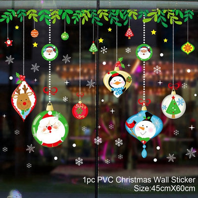 DIY Wall Sticker Merry Christmas Decoration