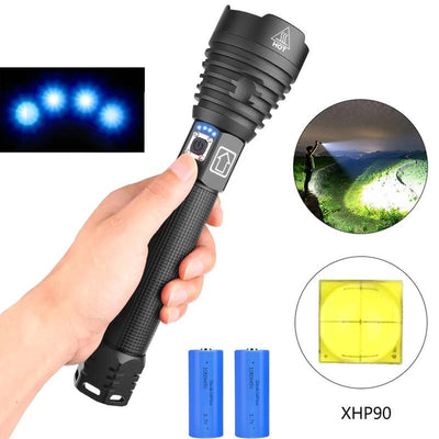 LED Flashlight USB Rechargeable