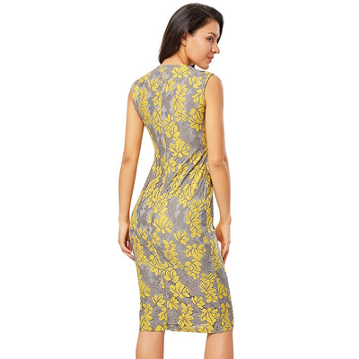 Elegant Lace Sleeveless Slim Women Dress