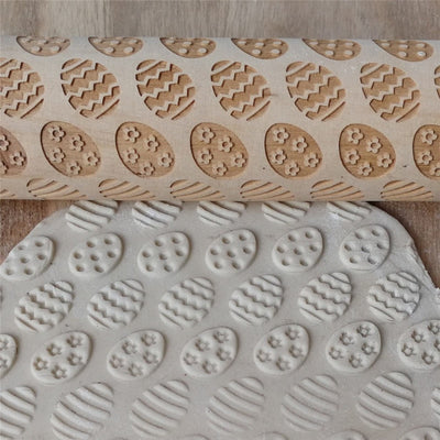 Wooden Craving Rolling Pin Dessert Tools