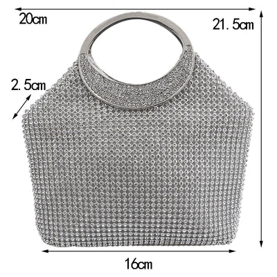 Rhinestones Crystal Women Clutch Bag